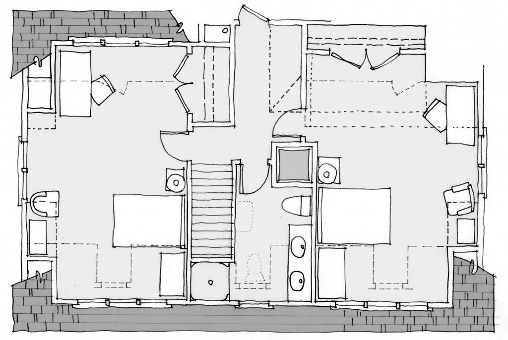 Second floor plan - partial