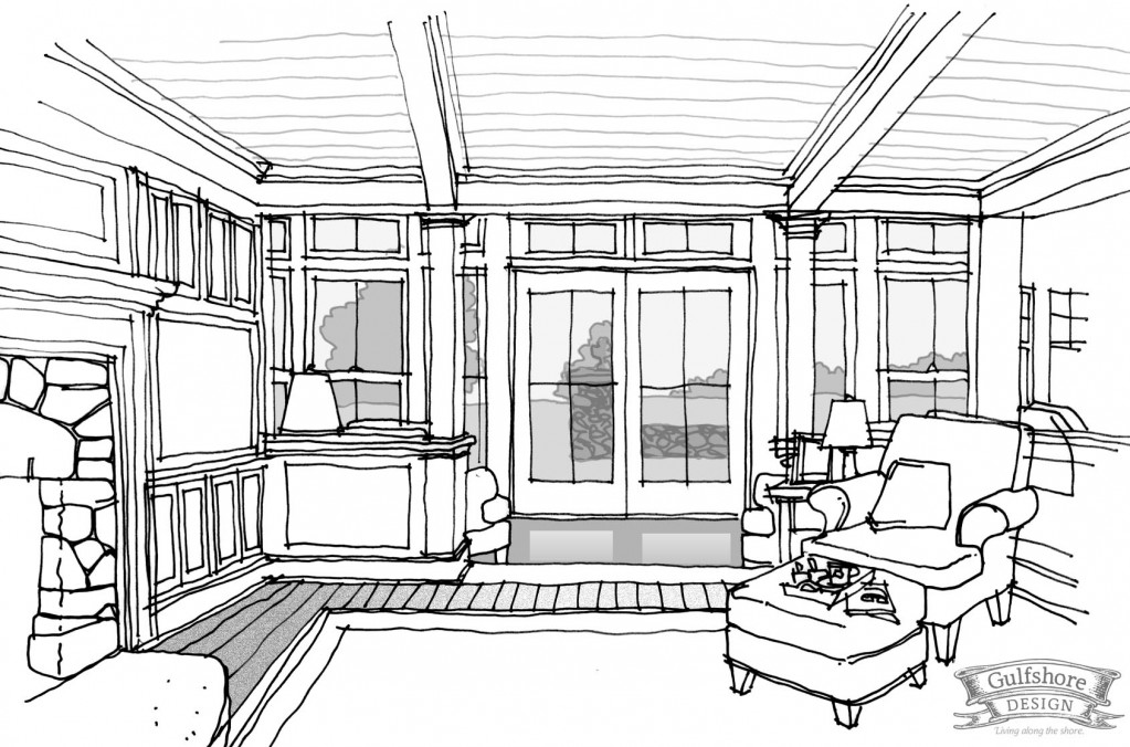Gallery For gt Interior Sketch