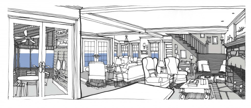 Renderings for Interior design sketches