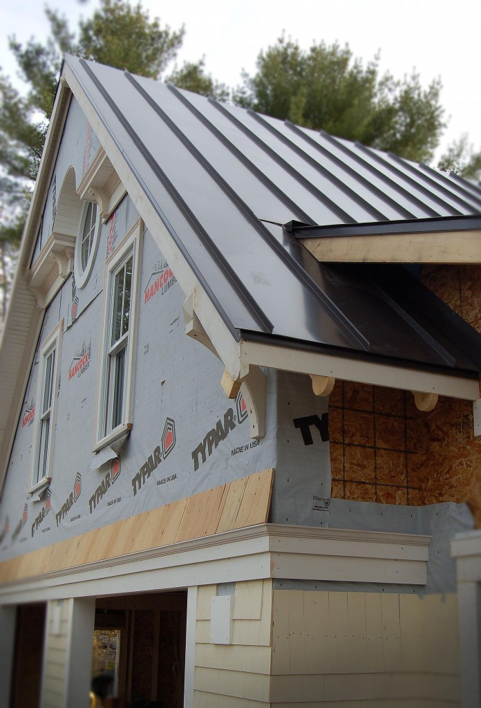 standing seam black metal roof
