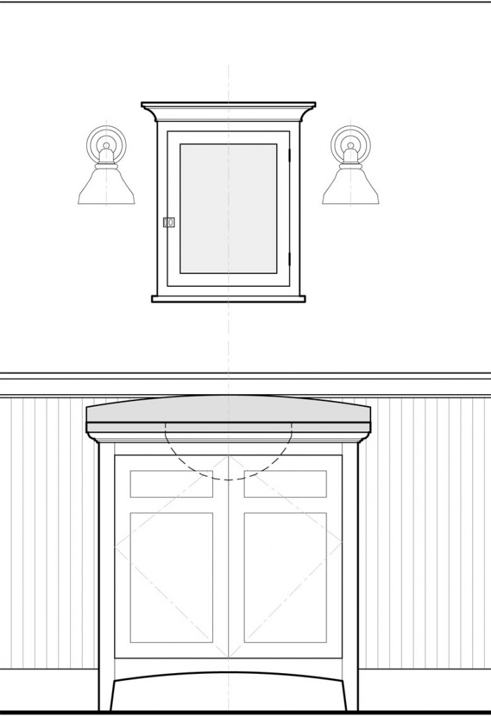 Vanity and wall cabinet