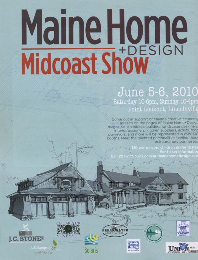 Maine home design poster small for Midcoast home designs