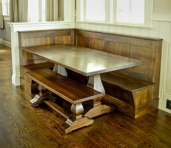 Breakfast nook bench plans diy woodworking projects Corner kitchen bench