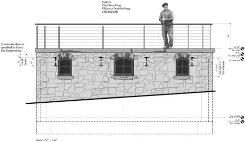 Stone Elevation Drawing : April