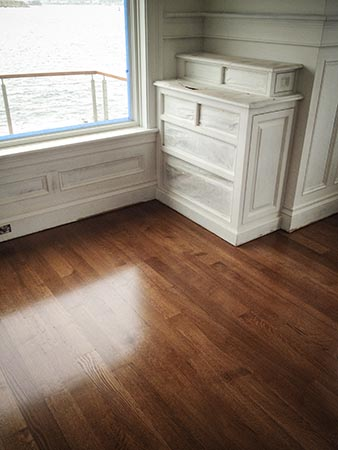 "4"" wide, quarter sawn white oak with stain"