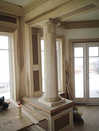 custom wood column