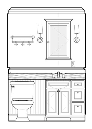 Blog archive bathroom design sketch cadd drawing for Bathroom designs drawing