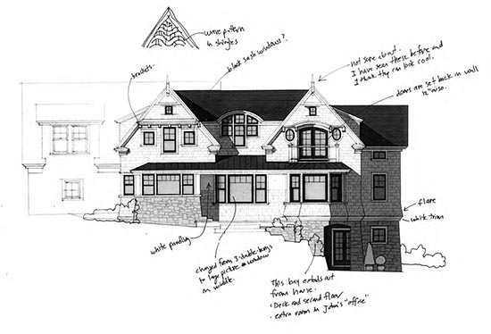 elevation with notes 1