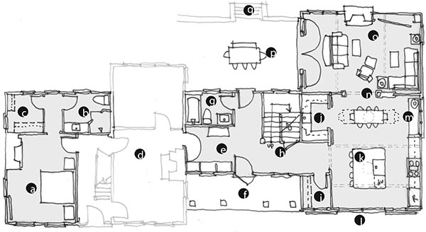 The Plan Sketch Below Is A Typical Sketch That A Client Would See From Me  And The Tags Correspond To A Long Email That U201cwalksu201d Them Through Each  Space Along ...